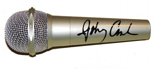 Johnny Cash Autographed Facsimile Signed Microphone