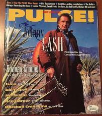 Johnny Cash Autographed Signed Pulse! Magazine JSA COA