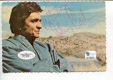 Johnny Cash Country Music Singer HOF Legend Signed Autograph Display JSA LOA