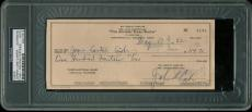 Johnny Cash Double Signed Check Paid To & Signed by June Carter Cash PSA Slabbed