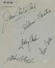 Johnny Cash Family June Lelen Signed Autographed 8x10 Album Page Beckett BAS