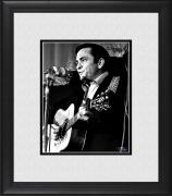 "Johnny Cash Framed 8"" x 10"" Playing Guitar Photograph"