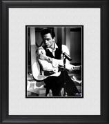 "Johnny Cash Framed 8"" x 10"" Posed with Guitar Photograph"