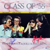 Johnny Cash & Jerry Lee Lewis Signed Class Of '55 Album Flat BAS #A84993