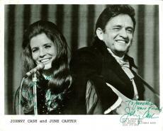Johnny Cash & June Carter Cash Signed 8x10 B&W Promotional Photo BAS #A89655