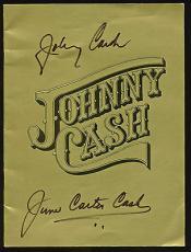 Johnny Cash & June Carter Cash Signed Program PSA/DNA #AB04538