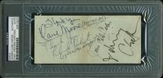Johnny Cash & June Carter Signed 2.75x6 Chase Bank Check PSA Slabbed