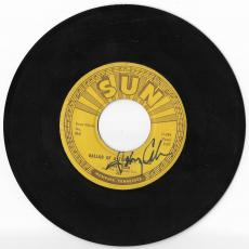 Johnny Cash Music Legend Signed Autograph Ballad Of A Teenage Queen 45 Vinyl Coa
