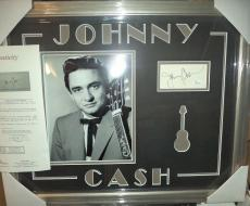 Johnny Cash Music Legend Signed Autograph Double Matted & Framed Jsa Loa Rare A