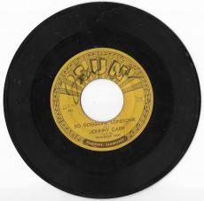 Johnny Cash Music Legend Signed Autograph So Doggone Lonesome 45 Vinyl Coa Rare