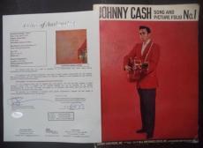 Johnny Cash Music Legend Signed Autograph 1959 Song & Pic Folio No.1 Mag Jsa Loa