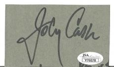 Johnny Cash Music Legend Signed Autographed 2x4 Paper Cut Authentic W/coa Rare