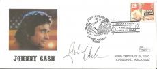 Johnny Cash Music Legend Signed Autographed 4x9 Cachet Env Rare Jsa Loa #z09574