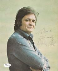 Johnny Cash Music Legend Signed Autographed 8x10 Vintage Photo Jsa Loa #z26835