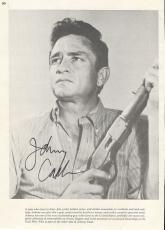 Johnny Cash Music Legend Signed Autographed 8x11 Magazine Photo W/coa Authentic