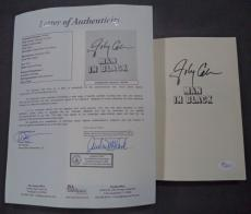 "Johnny Cash Music Legend Signed Autographed ""man In Black"" Book W/coa Rare"