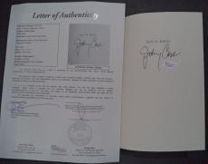 "Johnny Cash Music Legend Signed Autographed ""man In White"" Book Jsa Loa #z09435"
