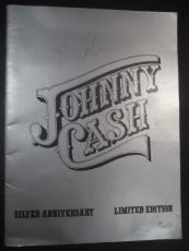 Johnny Cash Music Legend Signed Autographed Souvenir Program Booklet Jsa Loa