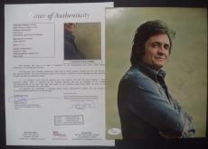 Johnny Cash Music Legend Signed Autographed Vintage 8x10 Photo Jsa Loa #z09040