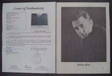 Johnny Cash Music Legend Signed Autographed Vintage 8x10 Photo Jsa Loa #z09438