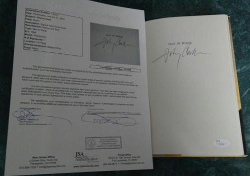Johnny Cash Music Signed Autographed 1986 1st Edition Men In White Book Jsa Loa