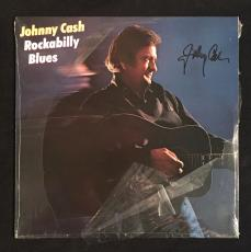 Johnny Cash Rockabilly Blues Signed Autographed Album Cover W/record Jsa Loa