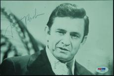 "Johnny Cash Signed 6x9 ""The Living Legend"" Postcard (PSA/DNA)"