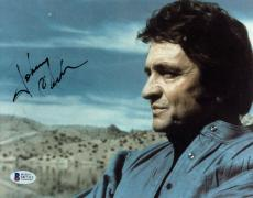 Johnny Cash Signed 8x10 Color Photo Autographed BAS #D07313