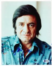 Johnny Cash Signed 8x10 Photo Authentic Autograph Ring Of Fire Beckett Coa