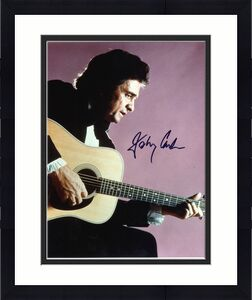 Johnny Cash Signed 8x10 Photo Auto Graded Gem Mint 10! BAS #A78932