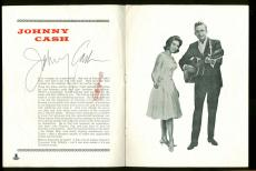 Johnny Cash Signed 8x10.5 Mid-1960s UK Souvenir Program BAS #B00987