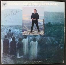 Johnny Cash Signed 'The Gospel Road' Album Cover PSA/DNA #Z04207