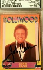 Johnny Cash Signed AUTHENTIC PSA/DNA AUTOGRAPH 1991 Starline Hollywood