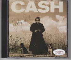 Johnny Cash Signed AUTOGRAPH CD Cover Booklet JSA FULL LETTER