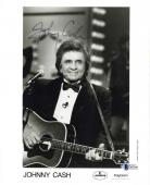 Johnny Cash Signed Autographed 8x10 On Stage Photograph Beckett BAS