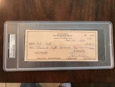Johnny Cash Signed Autographed Check PSA/DNA Encapsulated