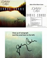Johnny Cash Signed - Autographed Early Years LP Record Album Cover - Deceased 2003 - Guaranteed to pass PSA or JSA