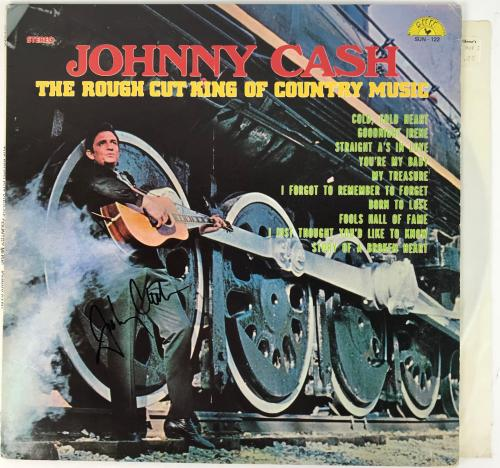 Johnny Cash Signed Autographed King of Country Record Album PSA/DNA COA #AB03433