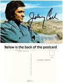 Johnny Cash Signed - Autographed Man in Black Singer - 6x4 inch Postcard - Photo - Deceased 2003 - Guaranteed to pass PSA or JSA