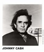 Johnny Cash Signed - Autographed Rock and Roll - Country Music Singer 1994 Promo 8x10 inch Photo - Deceased 2003 - Guaranteed to pass PSA or JSA