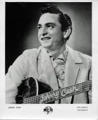Johnny Cash Signed Autographed Vintage 8x10 Promo Photo Psa/dna Coa Ab43386