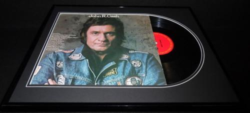 Johnny Cash Signed Framed 1975 John R Cash Record Album Display JSA LOA