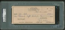 Johnny Cash Signed Hand Written Johnny Cash Show 1982 Bank Check PSA/DNA