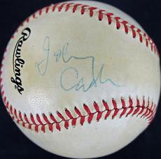 Johnny Cash Signed ONL Baseball Autographed PSA/DNA #AB81041