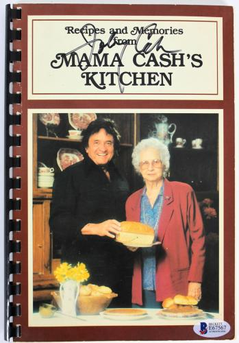 Johnny Cash Signed Recipes And Memories From Mama Cash's Kitchen Cookbook BAS