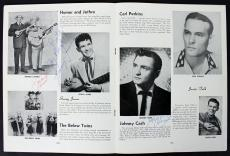 Johnny Cash, Sonny James & Harland Powell Signed 1956 Tour Program BAS #A03163