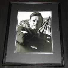 Johnny Cash w/ American Flag Framed 11x14 Photo Poster