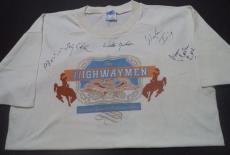 Johnny Cash Waylon Jennings Willie Nelson Signed Autographed Concert Shirt Coa