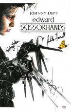 Johnny Depp +2 Signed Edward Scissorhands Autographed 11x17 Photo PSADNA#AC08573