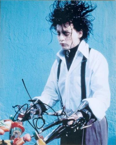 Johnny Depp 8x10 Photo signature (Edward Scissorhands) Image #SC2